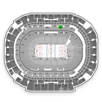 Dallas Stars at American Airlines Center Section 211 View