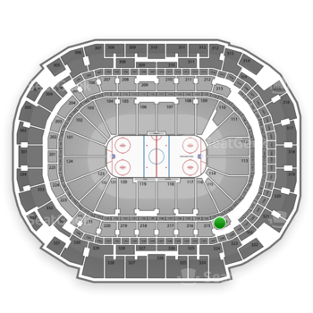 Dallas Stars at American Airlines Center Section 214 View