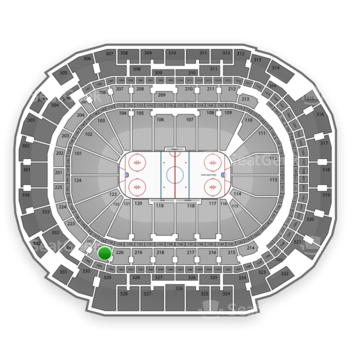 Dallas Stars at American Airlines Center Section 221 View