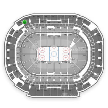 Dallas Stars at American Airlines Center Section 306 View