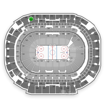 Dallas Stars at American Airlines Center Section 307 View