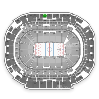 Dallas Stars at American Airlines Center Section 309 View