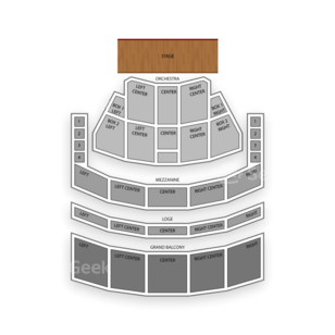 Eastman Theatre Seating Chart Dance Performance Tour