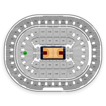 Cleveland Cavaliers at Quicken Loans Arena Section 100 View