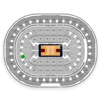 Cleveland Cavaliers at Quicken Loans Arena Section 101 View