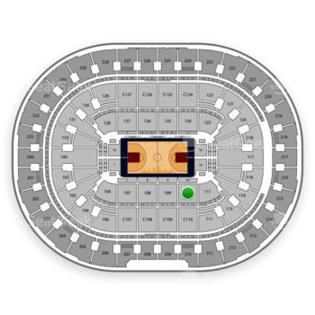 Cleveland Cavaliers at Quicken Loans Arena Section 110 View