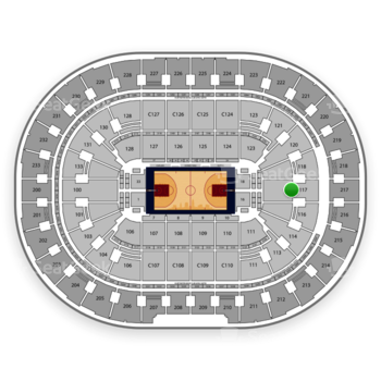 Cleveland Cavaliers at Quicken Loans Arena Section 117 View