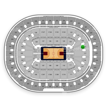 Cleveland Cavaliers at Quicken Loans Arena Section 118 View