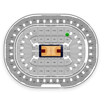 Cleveland Cavaliers at Quicken Loans Arena Section 123 View