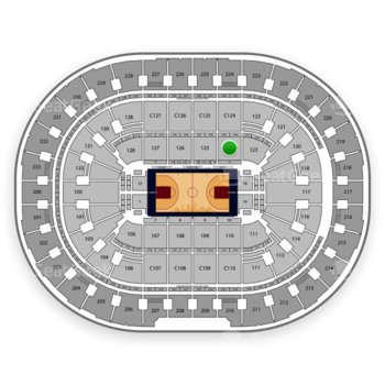 Cleveland Cavaliers at Quicken Loans Arena Section 124 View