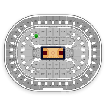 Cleveland Cavaliers at Quicken Loans Arena Section 128 View