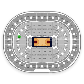Cleveland Cavaliers at Quicken Loans Arena Section 133 View