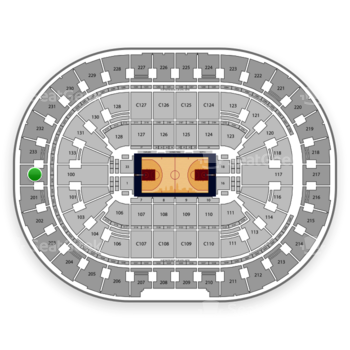 Cleveland Cavaliers at Quicken Loans Arena Section 200 View