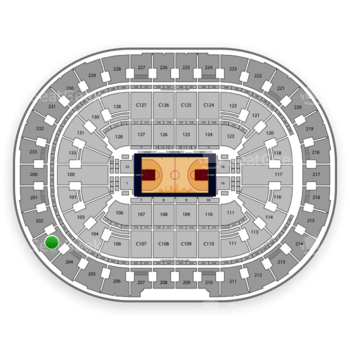 Cleveland Cavaliers at Quicken Loans Arena Section 203 View
