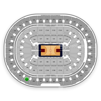 Cleveland Cavaliers at Quicken Loans Arena Section 205 View