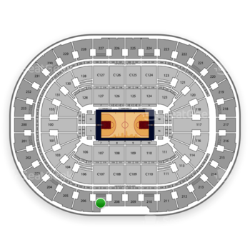 Cleveland Cavaliers at Quicken Loans Arena Section 207 View