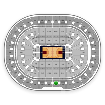 Cleveland Cavaliers at Quicken Loans Arena Section 209 View