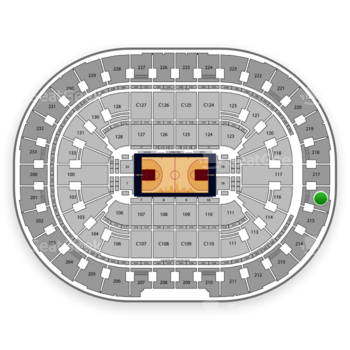 Cleveland Cavaliers at Quicken Loans Arena Section 216 View