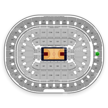 Cleveland Cavaliers at Quicken Loans Arena Section 217 View