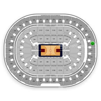Cleveland Cavaliers at Quicken Loans Arena Section 218 View