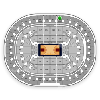 Cleveland Cavaliers at Quicken Loans Arena Section 224 View