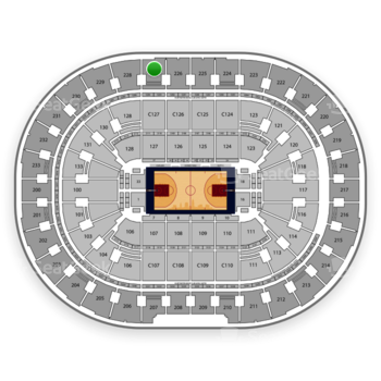Cleveland Cavaliers at Quicken Loans Arena Section 227 View