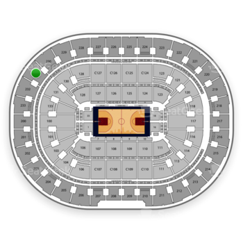 Cleveland Cavaliers at Quicken Loans Arena Section 231 View