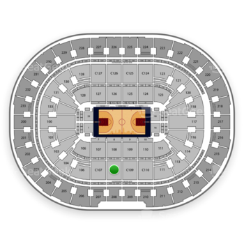 Cleveland Cavaliers at Quicken Loans Arena C 108 View