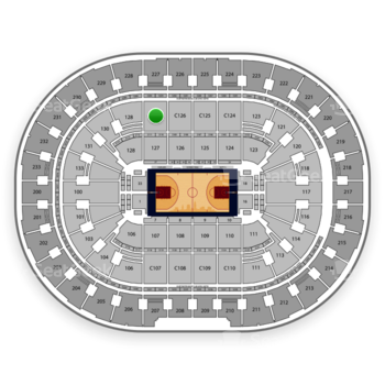 Cleveland Cavaliers at Quicken Loans Arena C 127 View