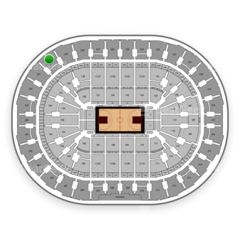 Cleveland Cavaliers at Quicken Loans Arena Section 230 View