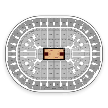 Cleveland Cavaliers at Quicken Loans Arena Section 1 View