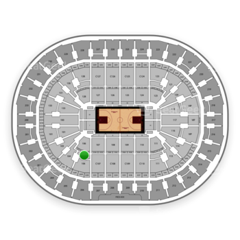 Cleveland Cavaliers at Quicken Loans Arena Section 106 View