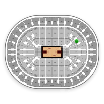 Cleveland Cavaliers at Quicken Loans Arena Section 120 View
