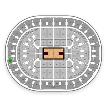 Cleveland Cavaliers at Quicken Loans Arena Section 201 View