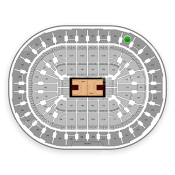 Cleveland Cavaliers at Quicken Loans Arena Section 222 View