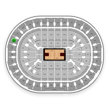 Cleveland Cavaliers at Quicken Loans Arena Section 232 View