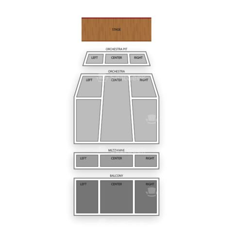 Popejoy Hall seating chart Jersey Boys