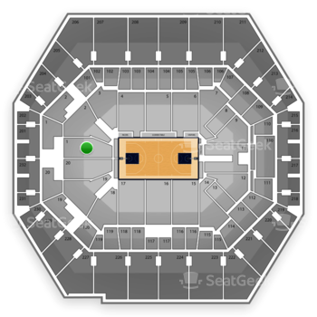 Indiana Pacers at Bankers Life Fieldhouse Section 1 View