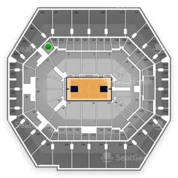Indiana Pacers at Bankers Life Fieldhouse Section 101 View