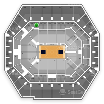 Indiana Pacers at Bankers Life Fieldhouse Section 102 View
