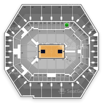 Indiana Pacers at Bankers Life Fieldhouse Section 106 View