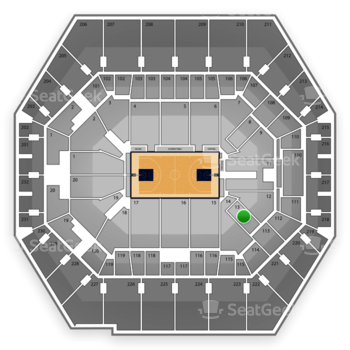 Indiana Pacers at Bankers Life Fieldhouse Section 13 View