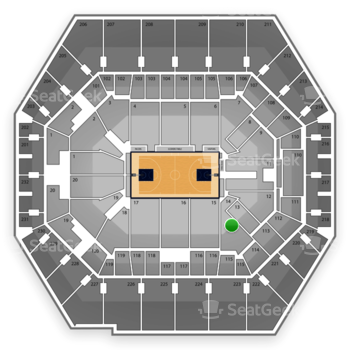 Indiana Pacers at Bankers Life Fieldhouse Section 14 View