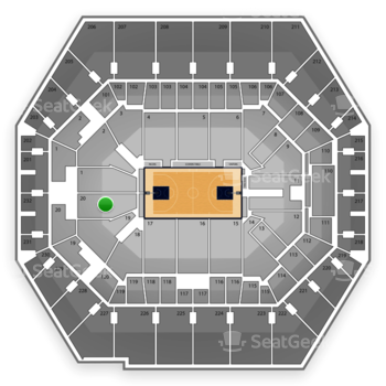 Indiana Pacers at Bankers Life Fieldhouse Section 20 View