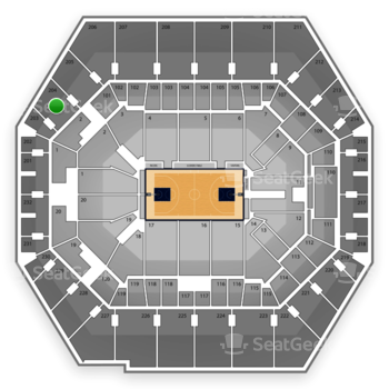 Indiana Pacers at Bankers Life Fieldhouse Section 204 View