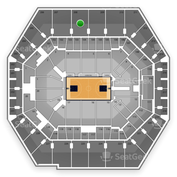 Indiana Pacers at Bankers Life Fieldhouse Section 208 View