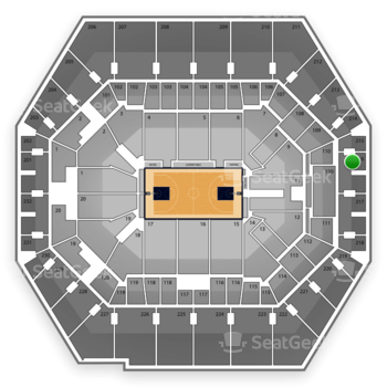 Indiana Pacers at Bankers Life Fieldhouse Section 216 View