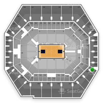 Indiana Pacers at Bankers Life Fieldhouse Section 219 View