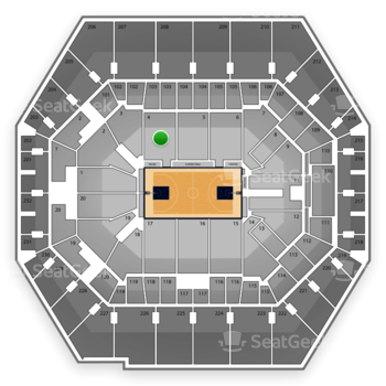 Indiana Pacers at Bankers Life Fieldhouse Section 4 View