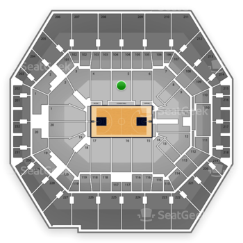 Indiana Pacers at Bankers Life Fieldhouse Section 5 View